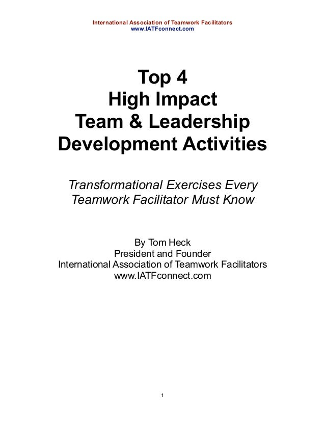 impact of team leaders on educational Team leaders help a small business by taking the larger message and goals of the company and leading day by day efforts to reach those goals  leaders can impact morale by helping to instill a.