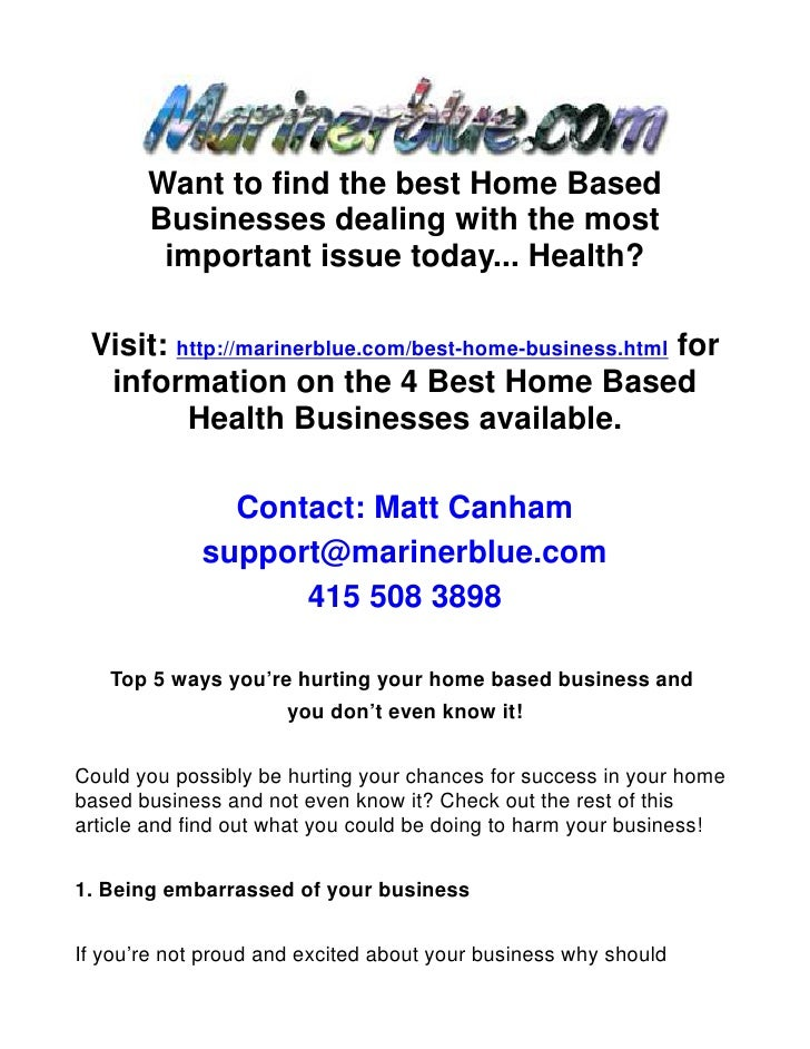 Top 5 ways you're hurting your home based business and you don't even know it!