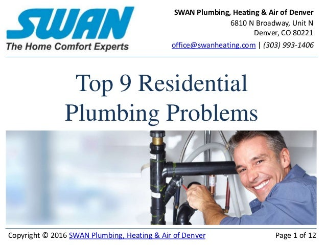 Top 9 Residential Plumbing Problems In Denver 2016