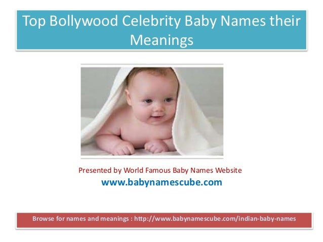 Top Bollywood Celebrity Baby Names theirMeaningsBrowse for ...
