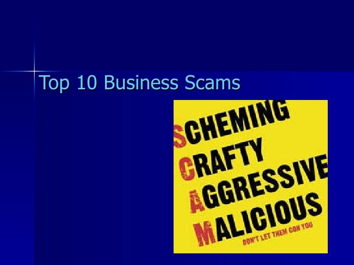 Top Business Scams