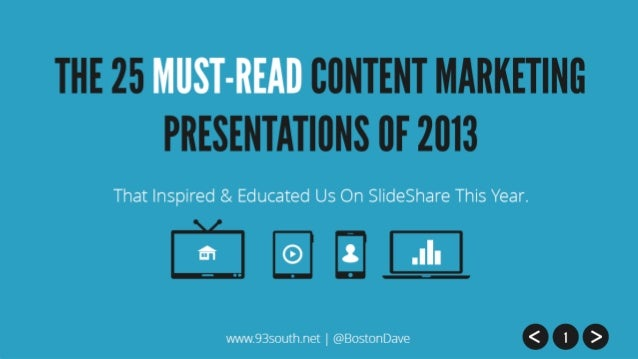 The 25 Must-Read Content Marketing Presentations of 2013