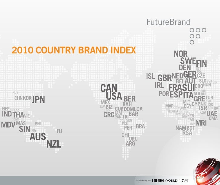 2010 COUNTRY BRAND INDEX                            in partnership with