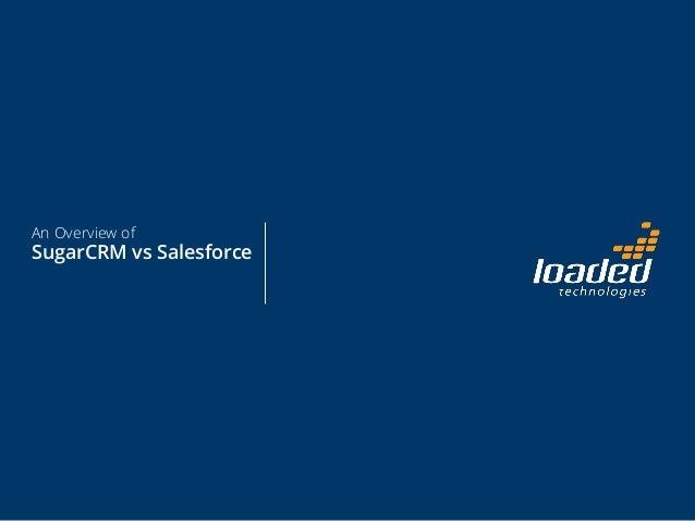 SugarCRM vs Salesforce Comparison