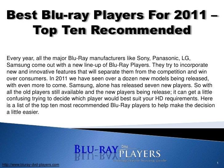 Blu Ray Player 2011 1best Blu-ray Players