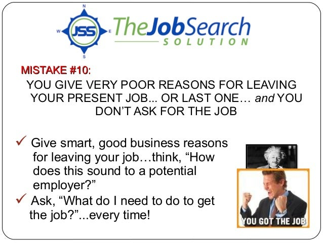 best reason to leave a job