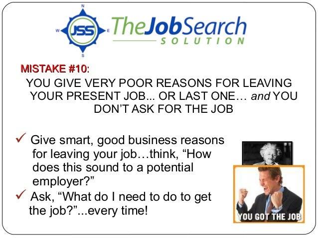 resume reason for leaving job