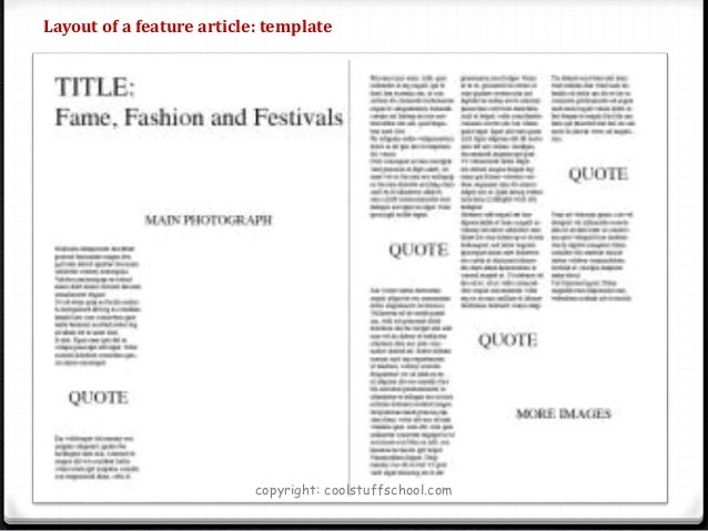 WRITING A NEWSPAPER ARTICLE TEMPLATE FOR KIDS