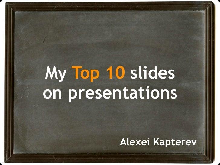 Cool presentation slides