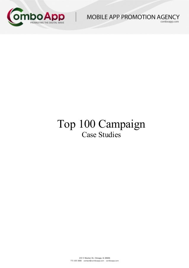 "iPhone & iPad App Marketing ""Top 100 Campaign"" cases study"