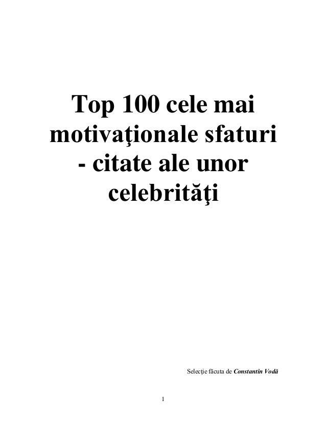 Top 100 cele mai motivationale citate din toate timpurile