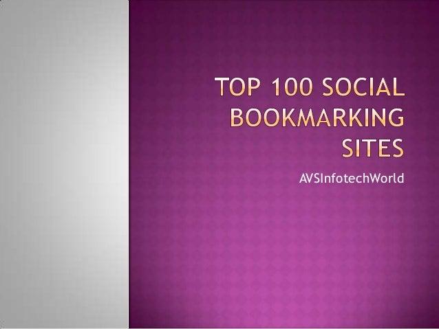 Top 100 social bookmarking sites