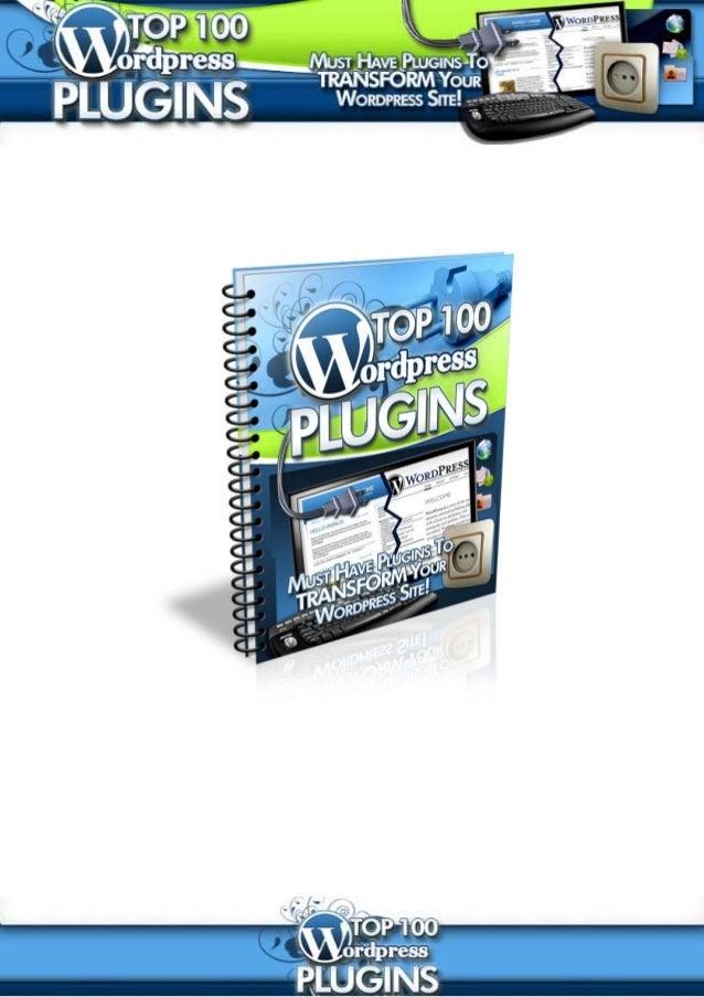 Top 100 Wordpress PluginsEcommerce ..........................................................................................