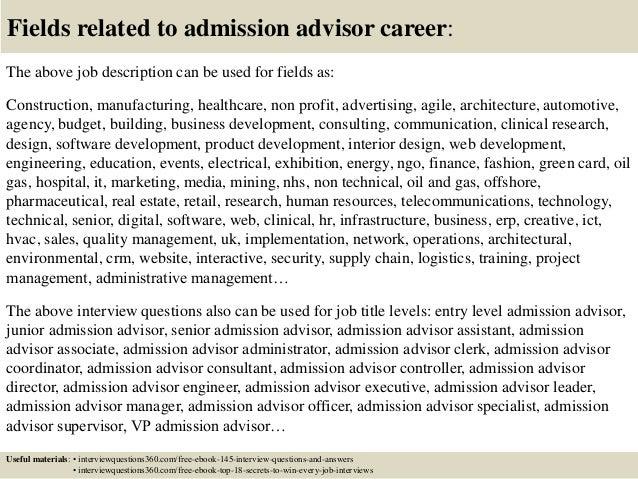 Admission job
