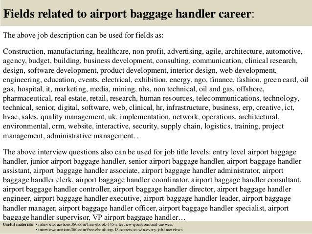 18 Fields Related To Airport Baggage Handler. indukresume.oneway2.me