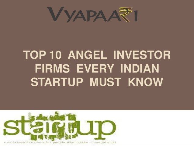 Top 10 Angel Investor firms in India