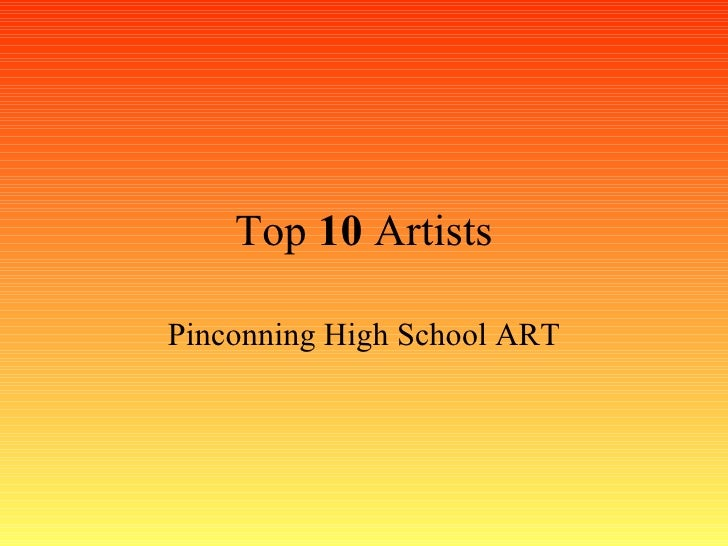 Top 10 Artists: Pinconning Middle School