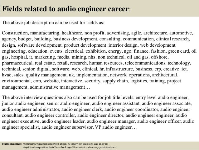 Helicopter Maintenance Engineer Cover Letter Audio Recording