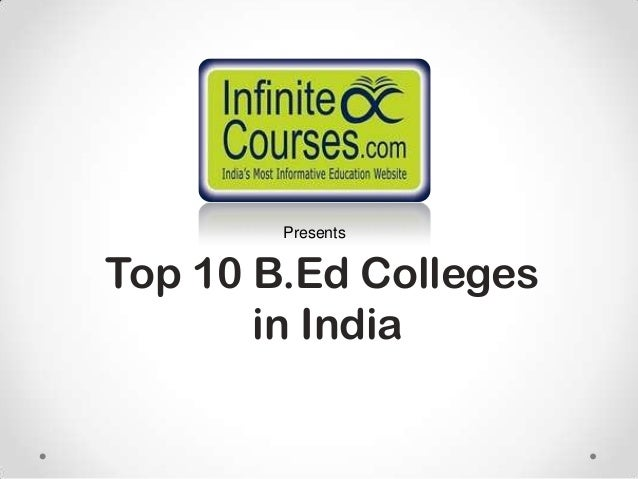 Top 10 B.Ed Colleges in India