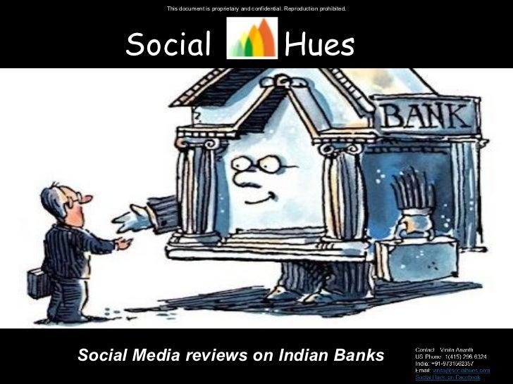 Social  Hues Social Media reviews on Indian Banks