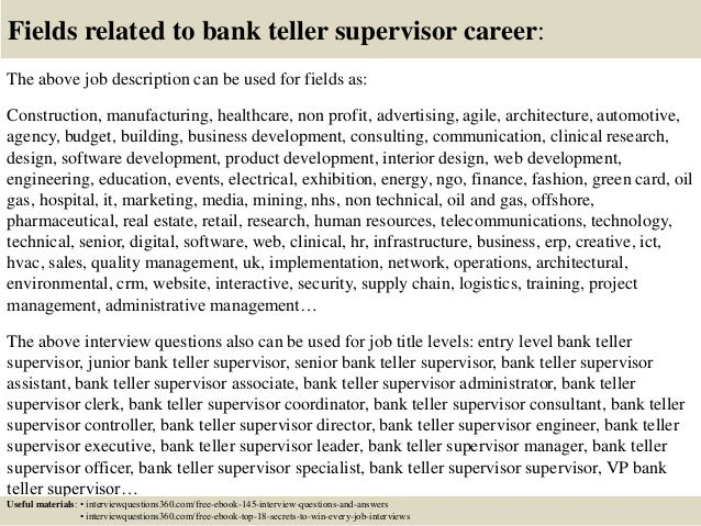 bank interview questions Interview questions a free inside look at bank teller interview questions and process details for 206 companies - all posted anonymously by interview candidates.