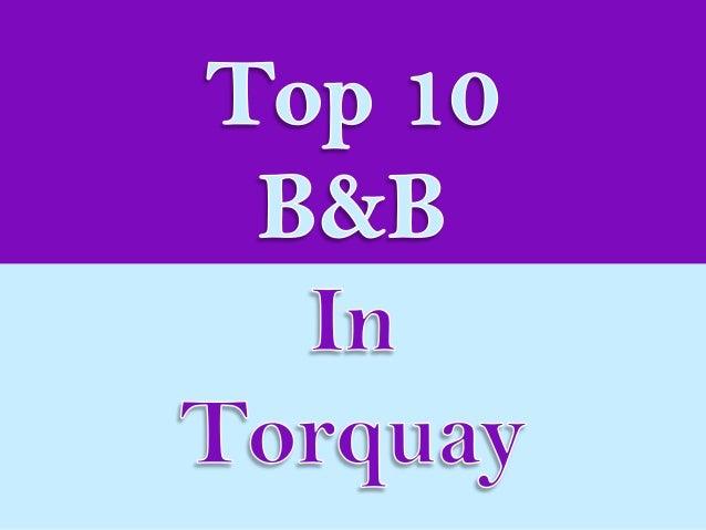 Top 10 b&b in torquay