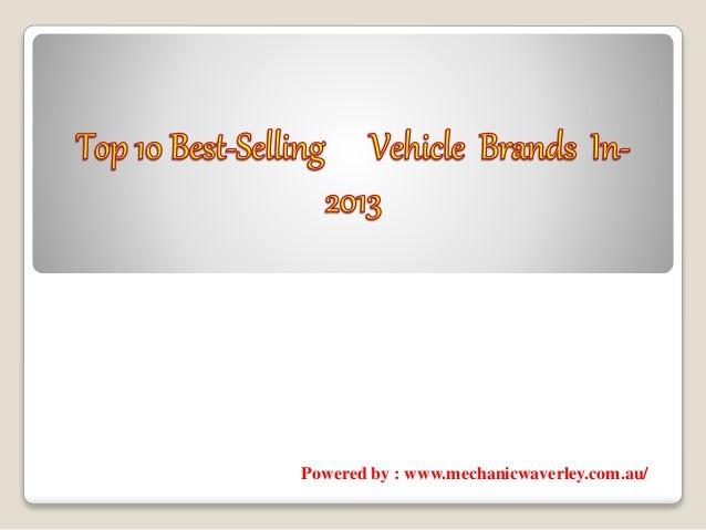 top 10 best selling vehicle brands in 2013. Black Bedroom Furniture Sets. Home Design Ideas
