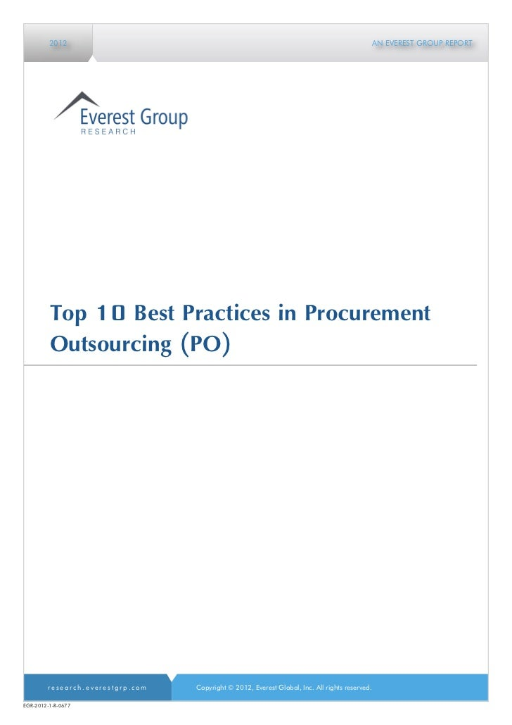Top 10 best practices in procurement outsourcing
