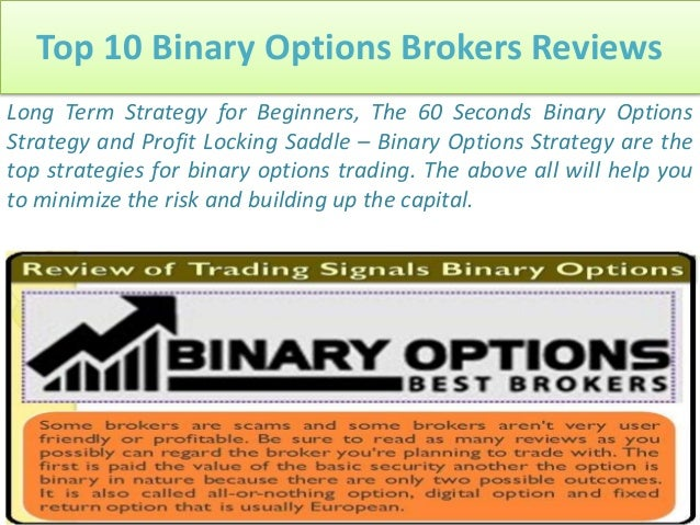 Top 10 trusted binary options brokers