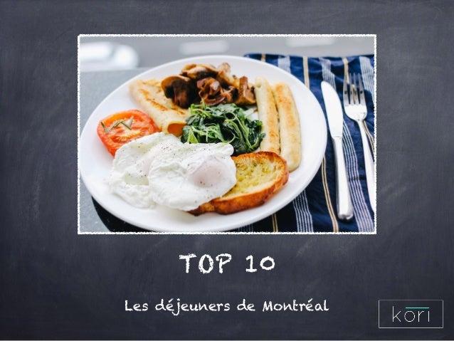 TOP 10 Les déjeuners de Montréal