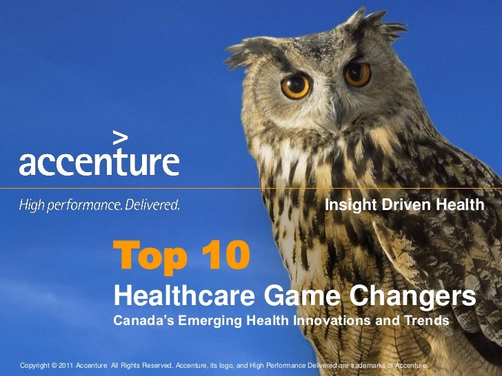 Insight Driven Health                              Top 10                              Healthcare Game Changers           ...
