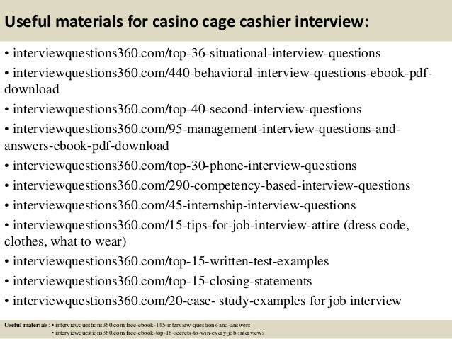 casino slots interview questions
