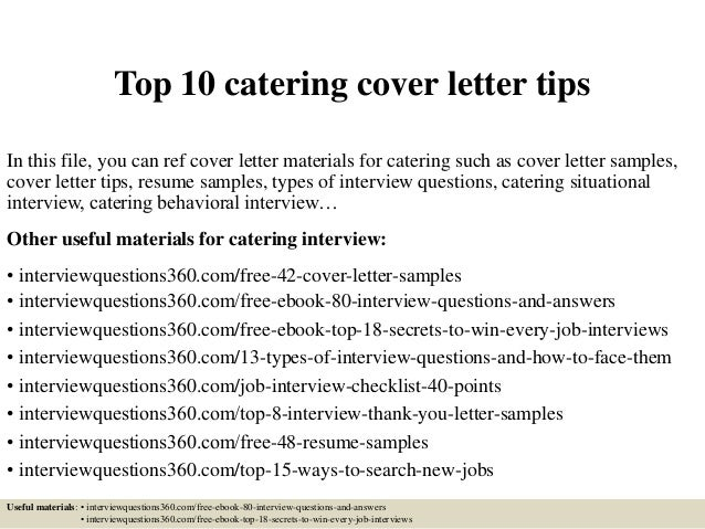 10 catering cover letter tipsin this file you can ref cover letter