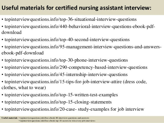 Cna Job Interview Tips ... 12.