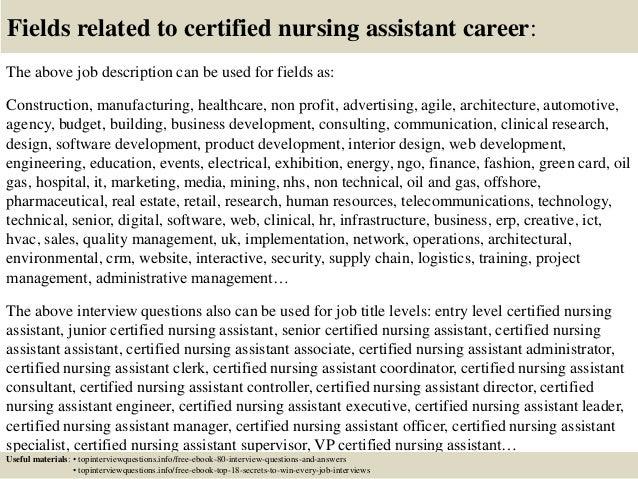 Similiar Information On Certified Nursing Assistant Keywords – Cna Job Description