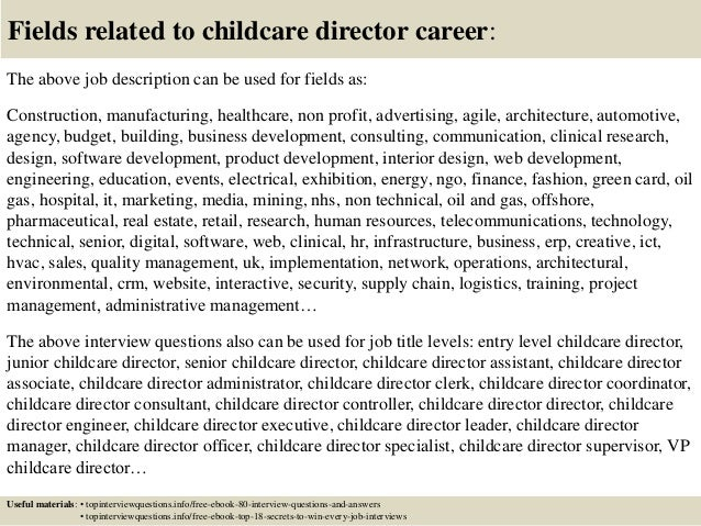 Top 10 childcare director interview questions and answers