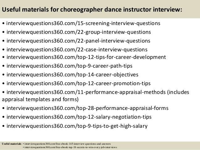dance instructor job description