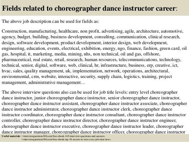 dance instructor job description teacher job description for ...