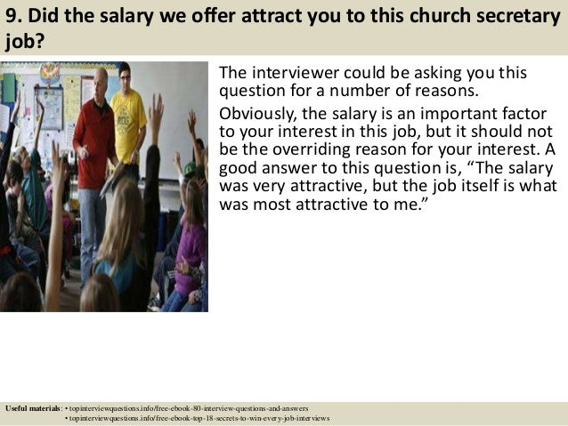 Church Secretary Salary ... 10.