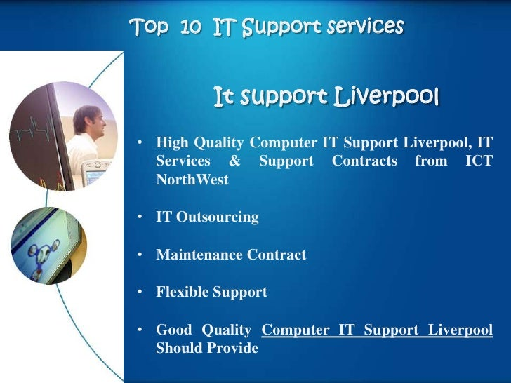 Top 10 IT Support services          It support Liverpool• High Quality Computer IT Support Liverpool, IT  Services & Suppo...