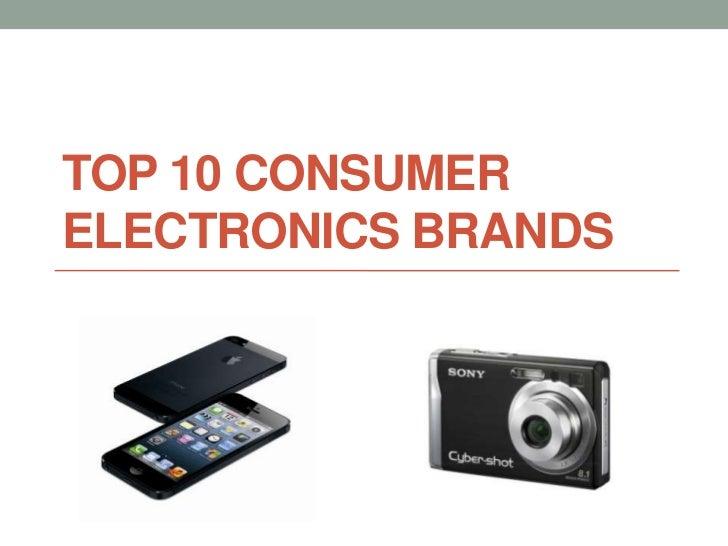 Top 10 Consumer Electr...