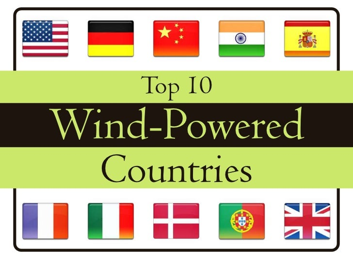 Top 10 Wind-Powered Countries