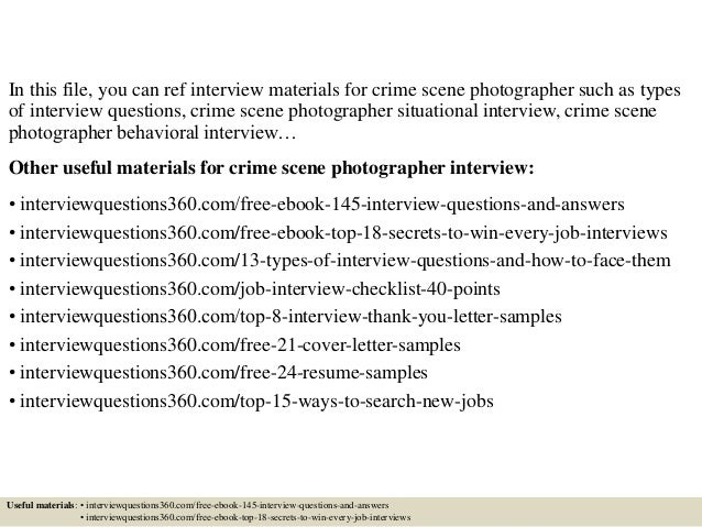 Crime and Interview