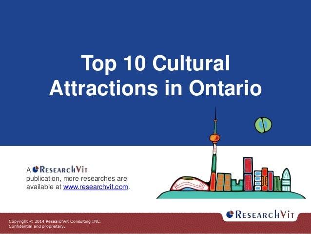 Top 10 Cultural Attractions in Ontario