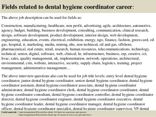 What would be a good title for a research project on dental hygientist?