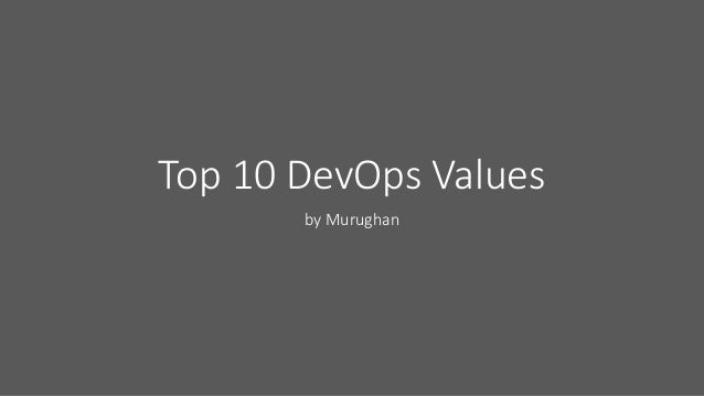 top 10 devops values