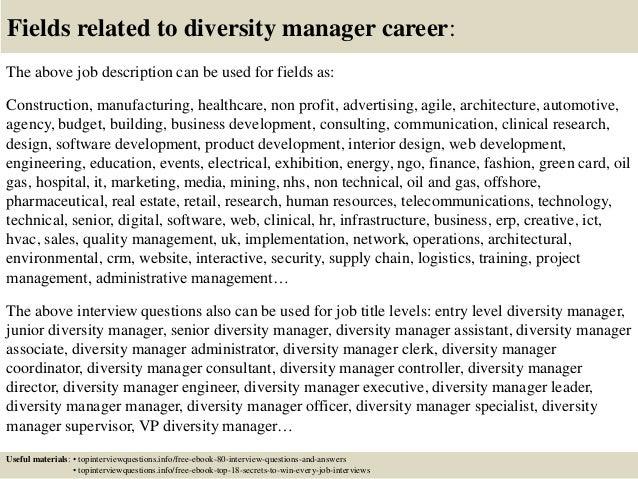 Diversity director cover letter