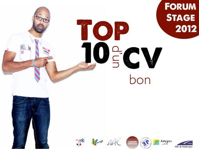 Forum                    StageTop                   201210 CV d'un         bon        sandrine        conchillo