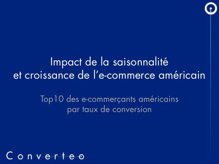 Top 10 e-Commerce Américain par Taux de Conversion
