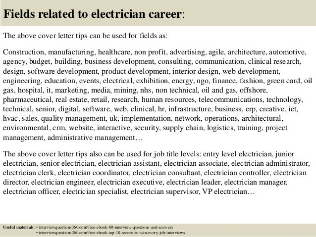cover letter for electrician top electrician cover letter ...